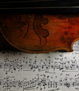 The viola... and my score of Henze Viola Sonata, which I will be recording with Roderick Chadwick