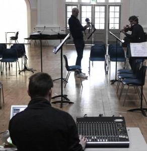 Sound Engineer Tom Mudd at the rehearsal 22 2 `15