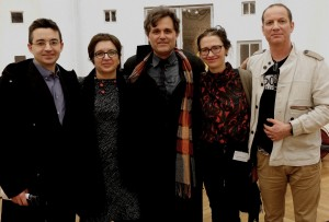 A joyous evening in Brussels. With Mihailo Trandafilovski after playing his second concerto, and after the concert, with four dear collaborator/composer/friends. Mihailo, Ruta Vitkauskaite, Jana Andreevska and Nigel Clarke. 25 2 15