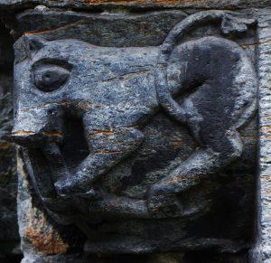 Soapstone Carving (12th Century) on the South Door of Mariakirken, Bergen