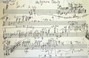 The Manuscript o Benjamin Buchanan's 'Vertiginous Beauty', premiered in Sweden 11 9 14