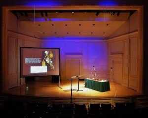 The Paganini Project. Coolidge Auditorium, Library of Congress 15 12 12. On stage, two Strads, the Brookings Amati and the Kreisler del Gesu. Bows by Stephen Bristow and Antonino Airenti