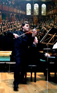 Playing Janacek Sonata at the National Portrait Gallery, with Roderick Chadwik 2 5 2014