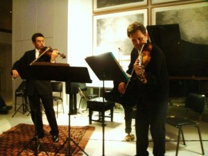 Performing with Mihailo Trandafilovski at the Shoe Factory, Nikosia