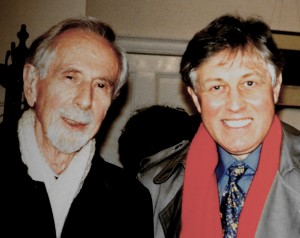 Two composers who have made my musical life possible. George Rochberg and David Matthews, together in London. Photo PSS