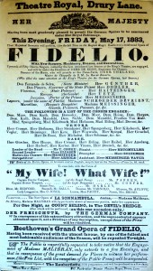 Found in the collection of the Blair School of Music, Nashville TN, a poster from the Kings Theatre, from May 1833, which brings together so many of extraordinary figures around Paganini's peformances at the sames theatre, directed by Edward Eliasson, listed as second leader of the band, after Cooke (RAM Professor), who had directed many of his other concerts in London.