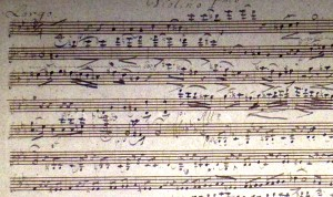 1st Violin Part of the final (simplified) version of the Overture (Summer-Autumn 1811)