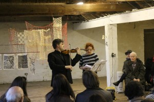 Peter and Malene perform her 'Winter Pockets'