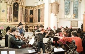 In St Michael's Cornhill, joined by Diana Mathews-playing Carter Callison (Photo David Gorton)