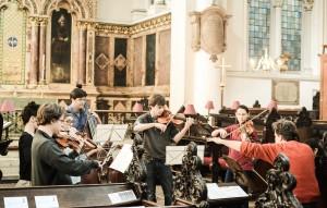In St Michael's Cornhill, joined by Diana Mathews-playing Carter Callison (Photo David Gorton)