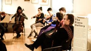 The composer listens. Michael Slayton at work (Photo David Gorton)