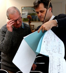 With Jeremy Dale Roberts, discussing his 'Capriccio' Kettles Yard 27 April 2014