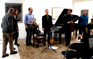With composers Jeremy Dale Roberts, Kate Honey, Richard Causton, Jeremy Thurlow, pianist Roderick Chadwick 27 4 14