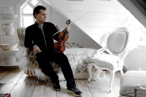 With Ole Bull's Amati and his bow, in the Nursery at Lysoen. 28 5  15