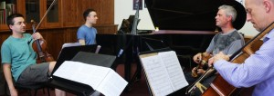 Rehearsing Coates Quintet. London 18 6 15