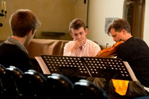 Working with Jake Steeper  on his 'Solus Loqui'. William Hunt listens.