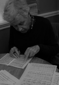 David Matthews, hard at work on the Schumann Piano Quintet. 3110 15
