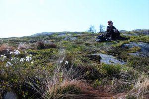 Writer/Filmmaker Malene Skaerved in the Granite and Moss landscape 31 5 16