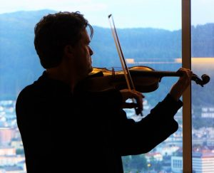 Playing Bull's bow overlooking the city 11pm 2 6 16
