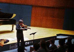 Playing Torelli in the Hockett recital Hall. 15 9 16