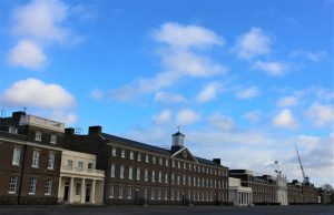 The astonishing facade of the Woolwich Barracks-with James Wyatt's arch in the cenre
